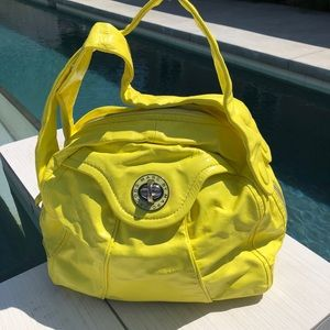 Marc by Marc Jacobs Yellow Patent Leather Hobo Bag